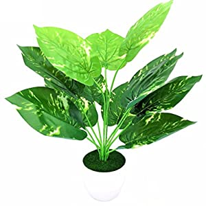 Inteeon Artificial Bonsai 1pc wedding decoration flowers&wreaths Artificial diy Fake Green Plant with vase 95