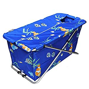 Common Tubs Folding Bathtub Massage Bathtub Blue