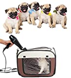 Obert Pet Hair Dryer Clean Grooming House Bag Dog Cat Blower Heater Bag Cage Hairdryer Pet Dry Room – Portable Hands-free Drying System after Bath