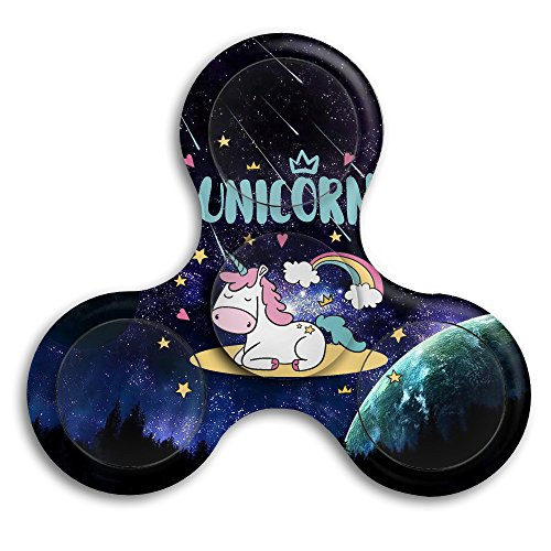 Funny Unicorn With Rainbow DIY Spinner Customize Personality Fidget Spinner EDC Fidget Toy Hand Spinner Finger Spinner Toy