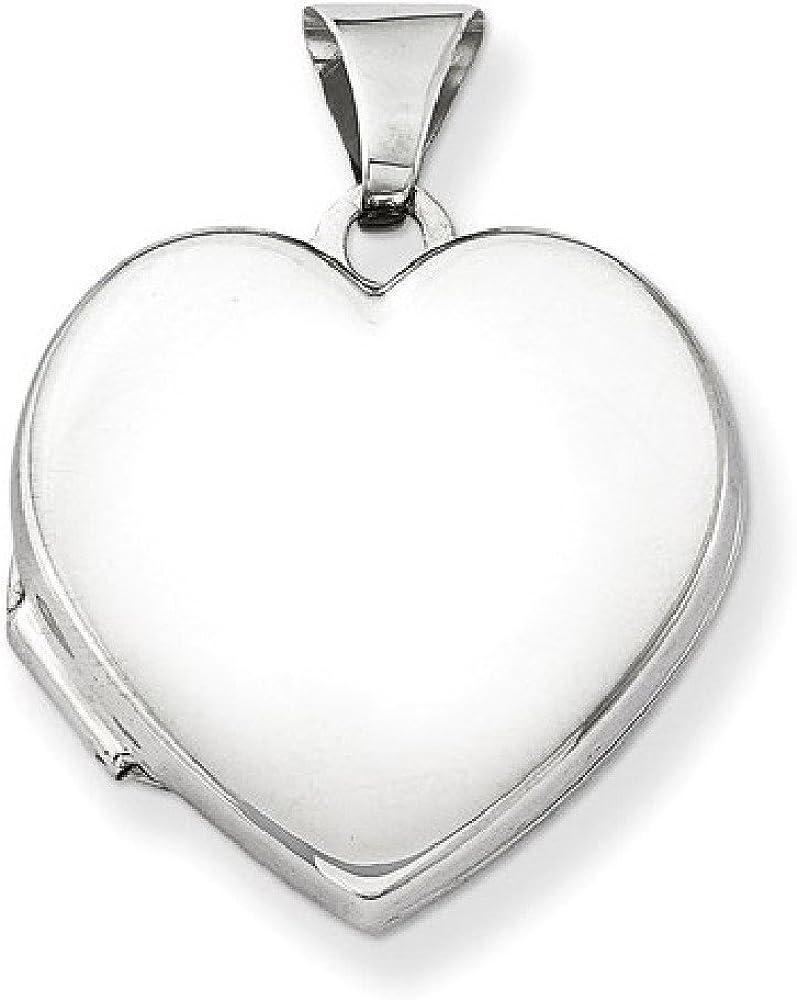 Apples of Gold Plain Polished Heart Locket Necklace