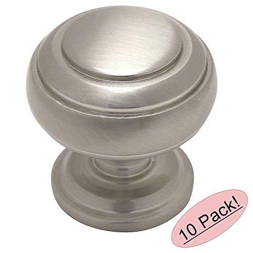Cosmas 7498SN Satin Nickel Cabinet Hardware Round Knob - 1-1/4