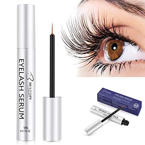 5a443e76fe9 BESTOPE Eyelash Growth Serum,Natural Brow Lash Enhancer(5ML),Nourish  Damaged Lashes and Boost Rapid Growth for Any Kind of Lash and Brow in 20  Days