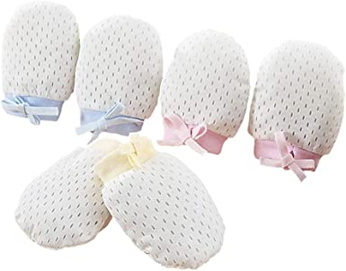 STOBOK 6 pares de guantes de algodón para bebés recién nacidos guantes de protección para bebés guantes cómodos para bebés bebés niños niñas: Amazon.es: Ropa y accesorios