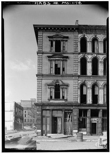 Photo  Merchants Bank Building First   Locust Streets Saint Louis Independent City Mo