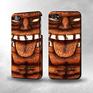 Apple iPhone 4 / 4S Case - The Best 3D Full Wrap iPhone Case - Tiki Statue