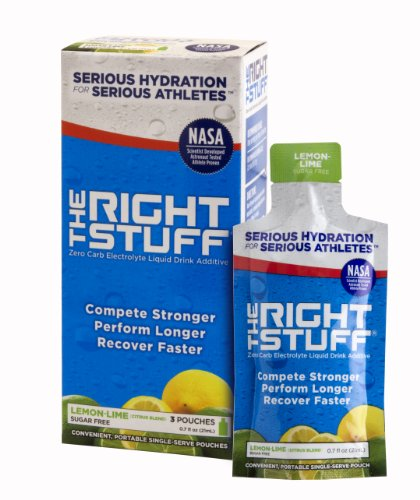 The Right Stuff® electrolyte drink additive Std - Retail 3-pouch box - Lemon-Lime