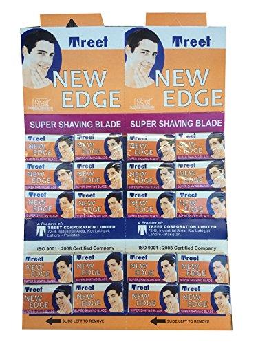 Treet New Edge Double Edge Safety Razor Blades, 100 Count