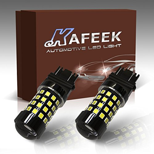 04 Dodge Dakota Projector - KAFEEK 2x Super Bright 2835 Chipsets 1200 Lumens 3056 3156 3057 3157 LED Bulbs with Projector for Backup Reverse Lights, White