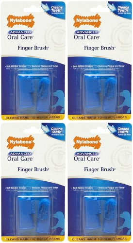 Nylabone Advanced Oral Care Finger Brush 8ct (4 x 2ct)