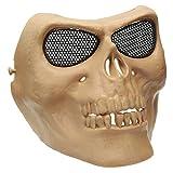 Halloween Costumes Skull Masks Retro Imitation Metal Terror Masks Half Face