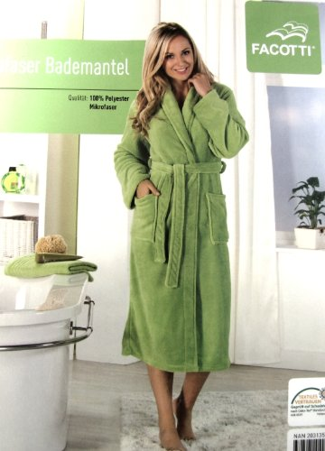 Facotti, SUPERSOFT Microfibre Bath Robe, lime Green, Size: S- soft ...