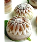 Pieces 6 Cavity Silicone Flower Soap Mold Chrysanthemum Sunflower Mixed Flower shapesCupcake Backing mold Muffin pan Handmade soap silicone Moulds 14 Dimensions:28*16.5*3CM Cavity Size:7.5*3cmNon-stick&Flexible: Pop out easily with smooth surface. Temperature Safe from -104 to +446 degrees Fahrenheit (-40 to +230 degrees Celsius) Safe use in Microwave, Oven, Refrigerator, Freezer and Dishwasher . 3 Different 3D Flower Pattern- can be used to make cupcakes, muffins, mini cakes, cake pops, cookies, lollipops, chocolates, breads, mini quiches and potpies, pudding and more! You can even use them as a tray to make uniquely shaped soap or ice.