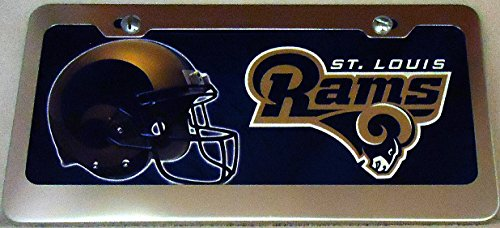 1 , Football Sign of the, SAINT LOUIS RAMS , Metal Sign , Enclosed in a Silver Anodized Aluminum Holder,,27B3.4+17B5.4+3001+