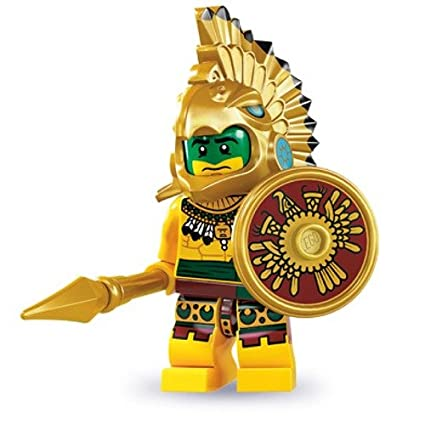 amazon com lego series 7 collectible minifigure aztec warrior toys