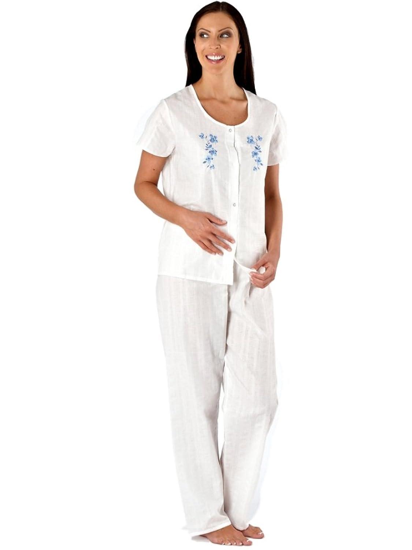 Womens Woven Seersucker Dressing Gown Or Pyjama (18/20, Pyjama ...