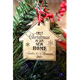 Personalized Christmas Ornament- 1st Home w/Names