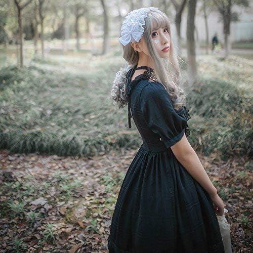 Multi-Layer Ruffled Princess Dress Square Collar Big Swing Lolita Skirt with Bow Cosplay Halloween Costume Lazapa Court Dress for Women