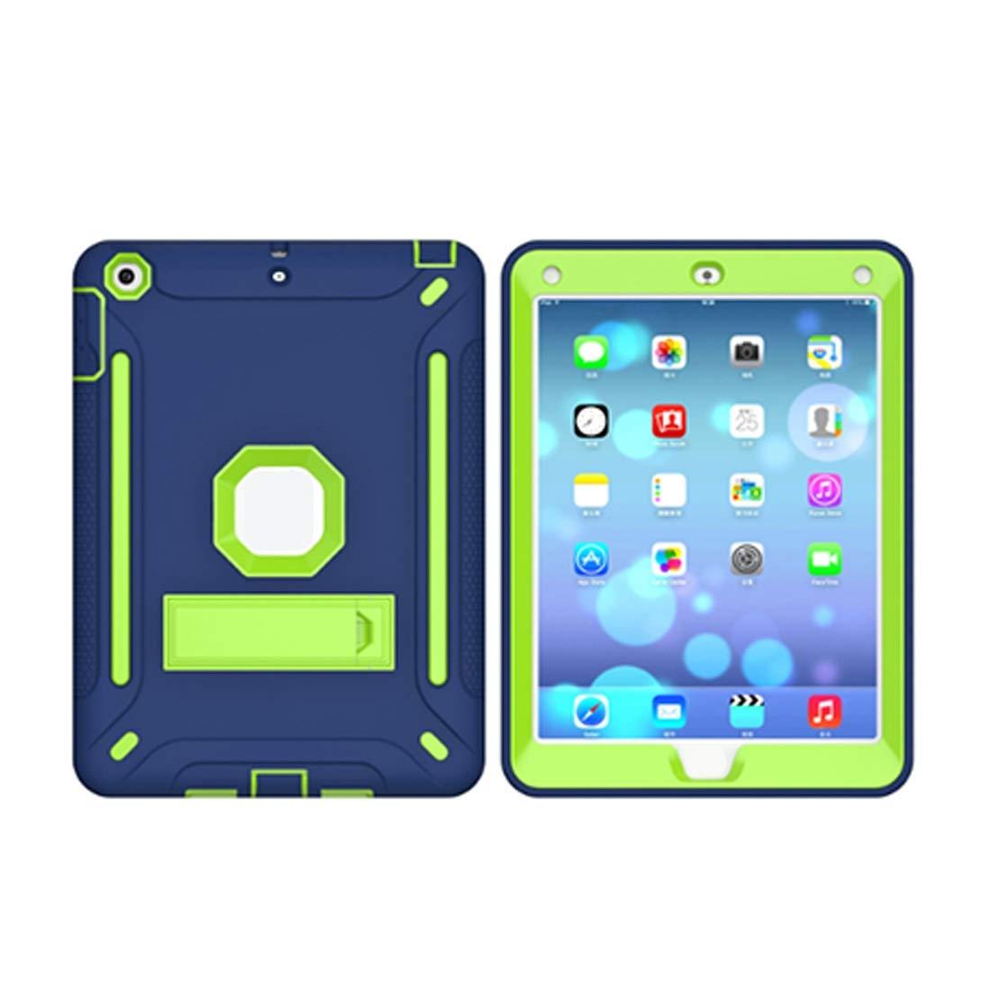 流行 KRPENRIO iPad 5ケース 頑丈 スリム 耐衝撃 5ケース シリコン iPad B07L8CHKM2 保護ケースカバー 9.7インチiPad用 (ネイビーブルー/蛍光オレンジ) (カラー:蛍光グリーン、サイズ:iPad2017) B07L8CHKM2, LINBAK:53fe830e --- a0267596.xsph.ru