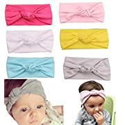 Mookiraer Baby Girl Newest Round Dot Turban Headband Head Wrap Knotted Hair Band (ZY06)