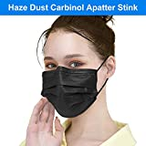Black Disposable Face Masks, Face Masks of 50 Pack