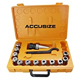 AccuszieTools - CAT40 Shank + 12 Pcs ER32 Collet Set + Wrench in Fitted strong Box, #CT40-ER32