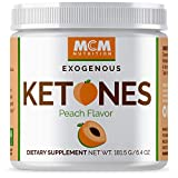 MCM Nutrition - Exogenous Ketones Supplement & BHB - Boosts Energy & Suppresses Appetite - Instant Keto Mix That Puts You into Ketosis Quick & Helps with The Keto Flu (Peach Flavor - 15 Servings)