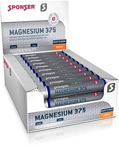 Sponser Magnesium 375, 30 ampollas de 25 ml, Exotic: Amazon ...