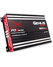 Genius GFX-75X4 1800 W-Max Car Amplifier 4-Channels Professional Class-AB 2 Ω Stable Stereo