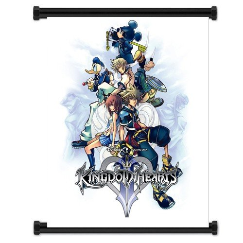 "Kingdom Hearts Game Fabric Wall Scroll Poster ""32 X 42"" Inch"