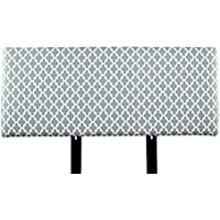 MJL Furniture Designs Alice Padded Bedroom Headboard Contemporary Styled Bedroom Décor, Fulton Series Headboard, Gray Finish, California King Sized, USA Made