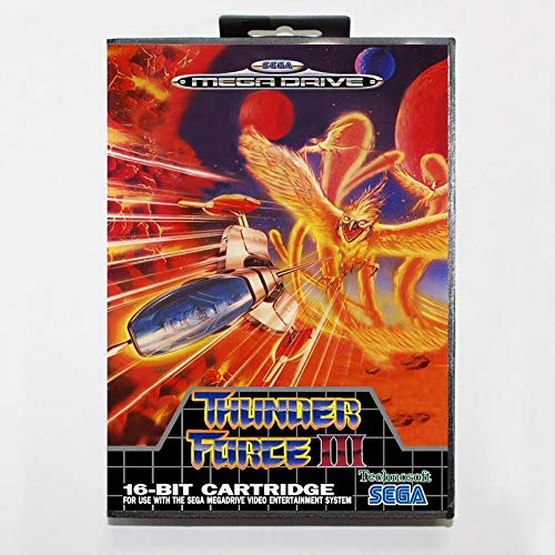 Sega MD games card - Thunder Force 3 with box for Sega MegaDrive Video Game Console 16 bit MD card - MD card Game Card For Sega Mega Drive For Genesis