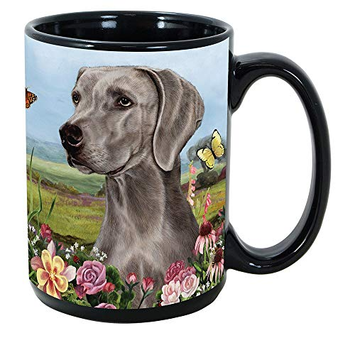 Imprints Plus Dog Breeds (R-Z) Weimaraner 15-oz Coffee Mug Bundle with Non-Negotiable K-Nine Cash (weimaraner 180)