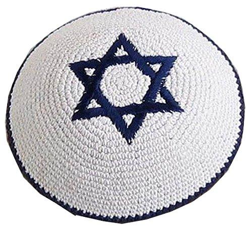 Mens or Kids Yarmulke Jewish Kippah Judaica Yamaka Kippa Yamakah Yarmulka Hat Israel Star of Magen David
