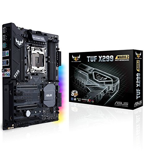 ASUS TUF X299 Mark 2 LGA2066 DDR4 M.2 USB 3.1 X299 ATX Motherboard for Intel Core X-Series Processors (Best Motherboard For Core 2 Quad)