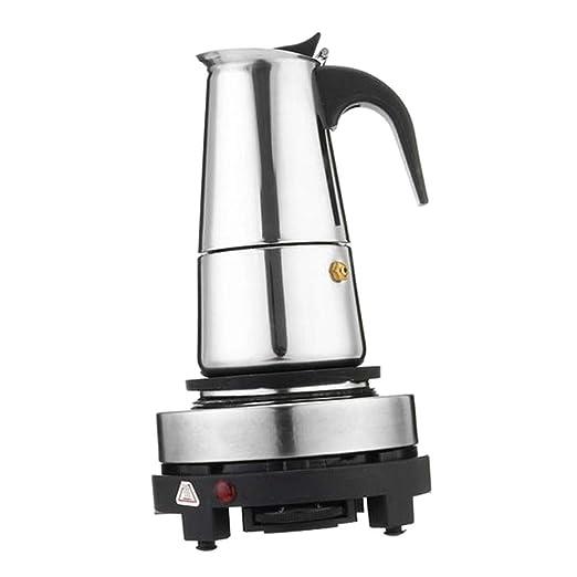 Cafetera Italiana Inducción de Acero, Cafetera Espresso Eléctrica ...