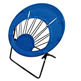 Impact Canopy Round Bungee Chair, Lightweight Portable Folding Chair for Indoor and Outdoor Use, Royal Blue