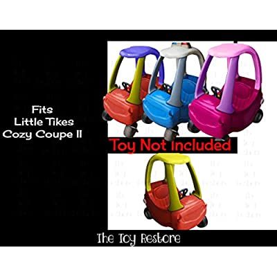 The Toy Restore Replacement Decals Stickers Fits Little Tikes Cozy Coupe II White: Toys & Games