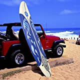 MD Group Beach Surf Surfboard Surfing Foamie 6' Durable White EPE Deck & Slick HDPE Button