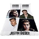 Justin Bieber Official Childrens/Girls Montage Comforter Cover Bedding Set