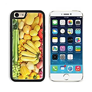 Fruits Vegetables Color Diet Banana Mango Peppter Green Beans Onion Corn Carrot Tomato Grape Green Apple Celery Cucumber Potato Punktail's Collections iPhone 6 Cover Premium Aluminium Design TPU Case Open Ports Customized Made to Order