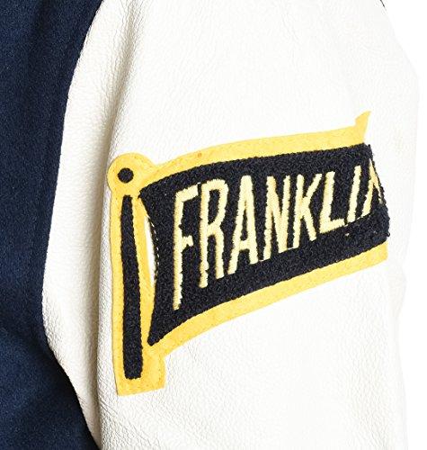 Franklin & Marshall Herren JKMVA027ANW16NAVY Blau Wolle Jacke