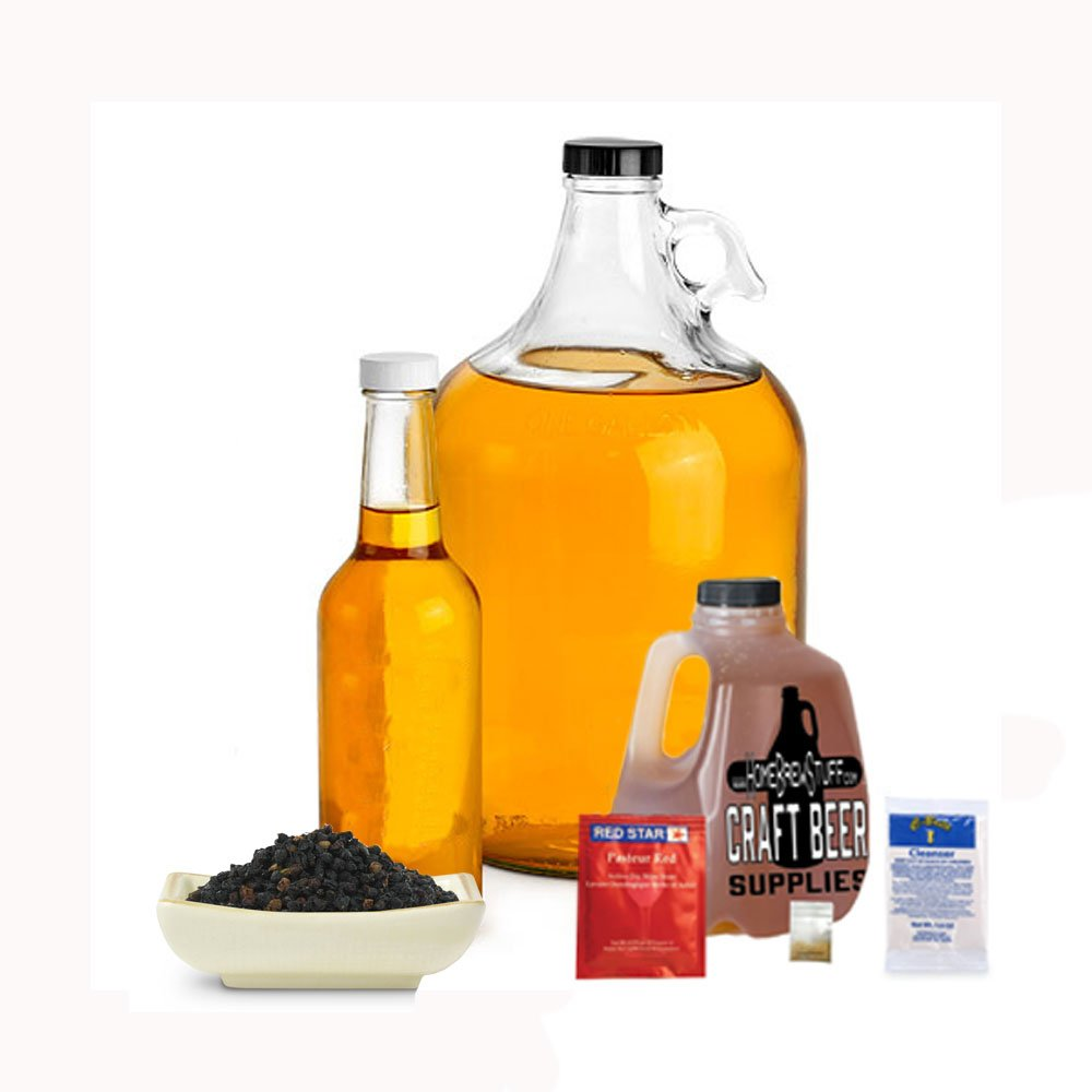 HomeBrewStuff Basic 1 Gallon Nano-Meadery Elderberry Honey Mead Recipe Refill Kit