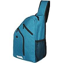 Freewander Mens Shoulder Backpack Chest Crossbody Bags Senior High School Pack (Blue)