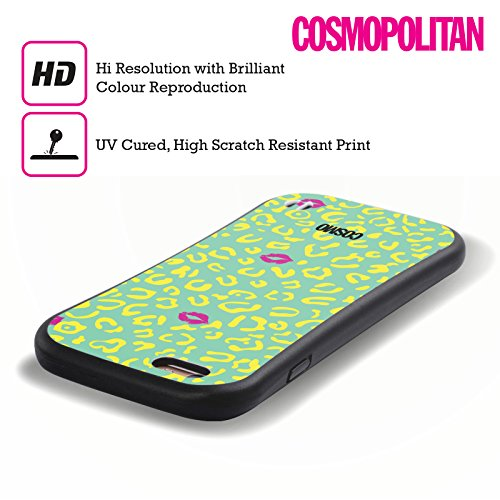 Official Cosmopolitan Mint Sassy Leopard Hybrid Case for Apple iPhone 6 / 6s