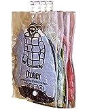 Orienex 吊るせる衣類圧縮袋 手動ポンプ付き 圧縮パック 衣類収納袋 5枚セット 真空式 ダニ、カビ対策 母の日