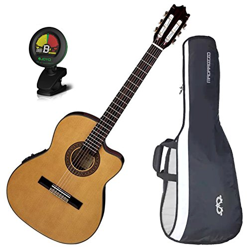 Ibanez GA5TCE Classical Acoustic-Electric Guitar w/ Gig Bag and Tuner! (Ibanez Nylon Cutaway Guitar)