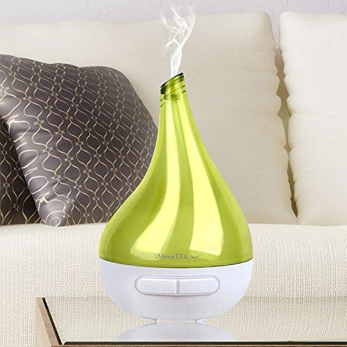 iMounTEK [Garlic Shape] 177 ML Ultrasonic Aromatherapy Essential Oil [Air Diffuser/Aroma Humidifier] Auto-Shut OFF, LED Lights, Baby/Kids/Bedroom/Office/Car/Spa/Yoga Cool Mist Ionizer/Purifier