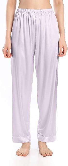 Men Silk Satin Pajama Drawstring Pant Yoga Bottom Sleepwear Trouser Loungewear