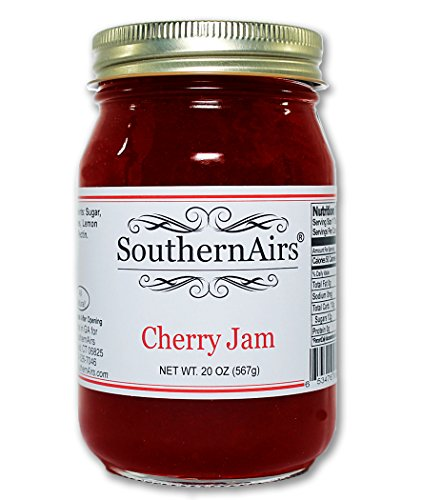 SouthernAirs Old-Fashioned Cherry Jam / Specialty Spread / Loaded with fresh picked Cherries / 20 oz. (Jam Fresh Cherry)